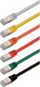 S/FTP double fully shielded twisted 4 pairs category 6A patch cord